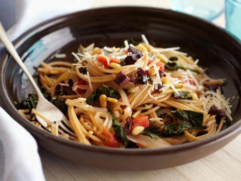 FN_Giada-De-Laurentiis-Whole-Wheat-Spaghetti-with-Swiss-Chard-and-Pecorino-Cheese